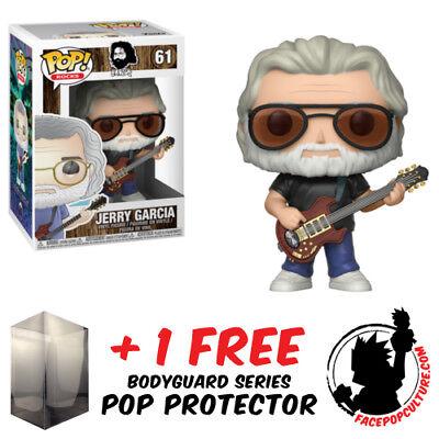 Funko Pop Jerry Garcia Vinyl Figure   Free Pop Protector