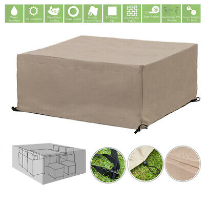 Stone 10 Seater Cube Outdoor Waterproof Garden Patio Furniture Cover Protector