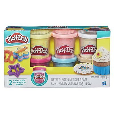 Play Doh For Kids Gift Colorful Glittery Clay W/ Shape Makers Cutters Cans Set