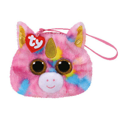 New 2017 TY Gear Beanie Boos FANTASIA the Unicorn Wristlet Coin Purse with Strap