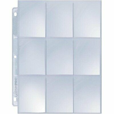 Card Sleeves Collector Binder Sheets Protectors Pokemon Holder Cards Page 25 x 9