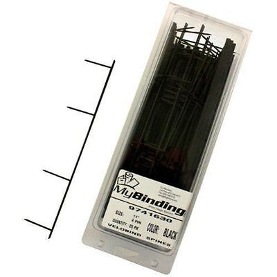 New Gbc Premium Black Velobind 4pin Reclosable Binding Strips - 25pk