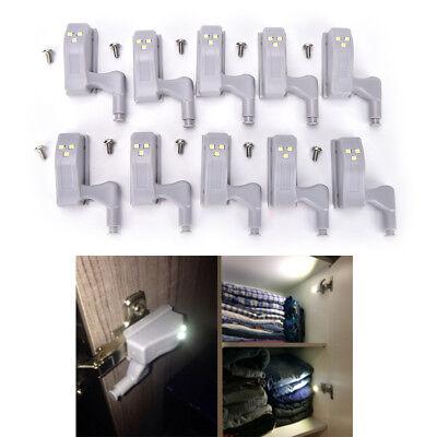 10pcs Kitchen Room Cabinet Hinge Indoor Wardrobe LED Light Sensor System  GX