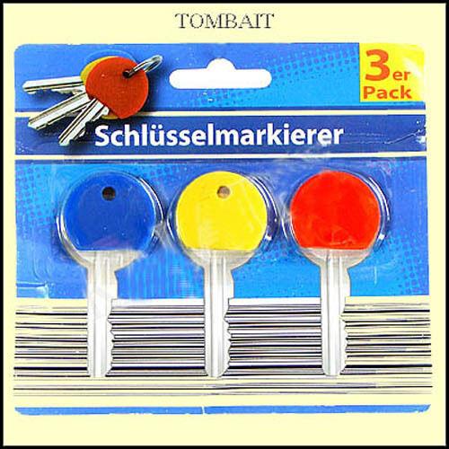Key Markers Set Key Marker Id Caps Keyring Top Covers Kennringe 3 Colours