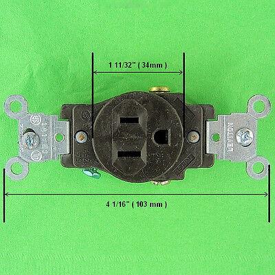 Leviton Heavy Duty Single Self Grounding 3 Prong Round Outlet 15 Amp 125V AC VAC