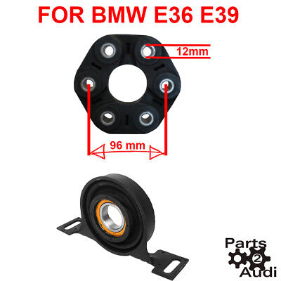 Driveshaft center Carrier Support Bearing w Flex Disc Joint kit For BMW E36 E39