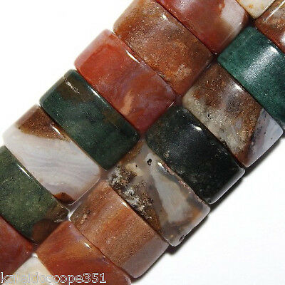 OCEAN JASPER NATURAL STONE BEADS DOUBLE 2 HOLE OVAL 6X12MM OVALS BEAD STRAND (Double Hole Beads)