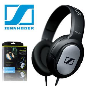 Sennheiser HD201 DJ Overhead Closed Dynamic Stereo Studio Grade Headphones