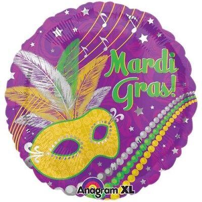 Masquerade Balloon Decorations (Mardi Gras Mask & Beads Foil Balloon Mardi Gras Party)
