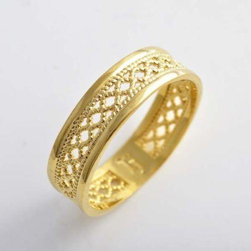Filigree Ring Bands: Gold Filigree Band Ring