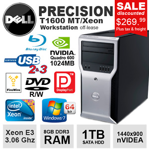 Desktop Dell Precision T1600 XEON E3-1270 3D Workstation