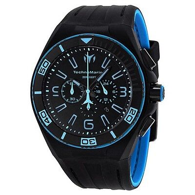 New Mens TechnoMarine 112003 Night Vision II Chrono Extra Blue Strap Watch