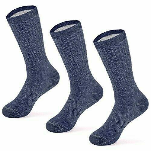 MERIWOOL 3 Pairs Merino Wool Blend Socks - Choose Your Size