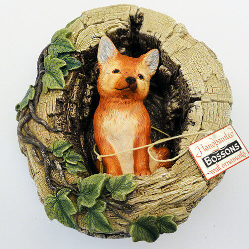 "BOSSONS FOX CUB 6.75"" tall made in England Hand Painted ONE NEW IN BOX"