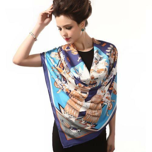 big silk scarf scarves wraps ebay
