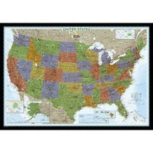 United States Map EBay - Rand mcnally us wall map