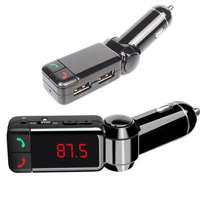 Bluetooth Music Receiver 3.5mm Adapter Handsfree Car AUX Speaker FM Transmitter