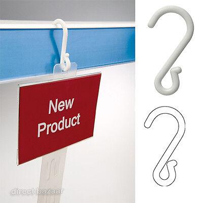 20 x Suspended Crimped Plastic Hooks, Hangers,