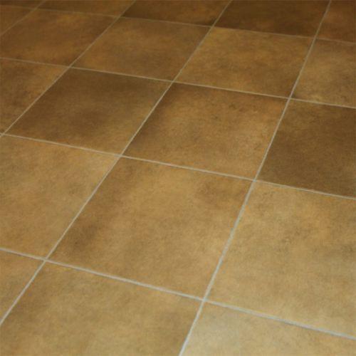 1970s Linoleum Tiled Floor Pattern Green Gold Bath Mat T