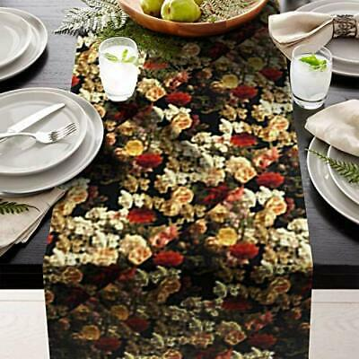"""Blue Leafs Table Runner 14"""" X 108"""" Print  great for table setting contemporary"""