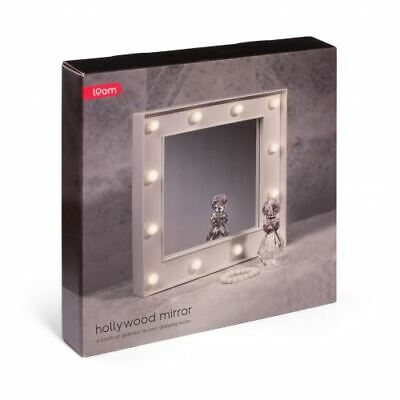 Hollywood Mirror Frees Standing Or Wall Mounted With 12 LED Bulbs