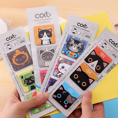 3X Cartoon Cats Kitten Magnet Bookmark Stationery Souvenir Collection Kids Gift ](Children's Bookmarks)