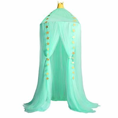 Jolitac Princess Bed Canopy for Kids Room Decor Round Lace Mosquito Net Play ...