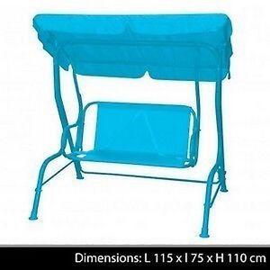 banc de jardin a bascule enfant balancoire ombrelle parasol jouet jeu neuf 49 ebay. Black Bedroom Furniture Sets. Home Design Ideas