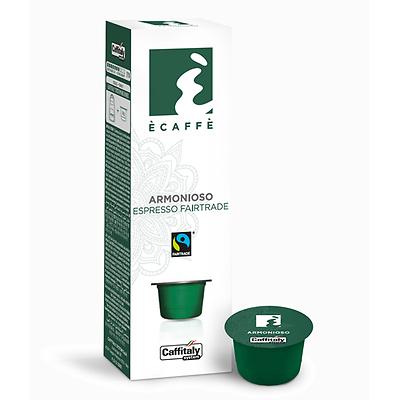 100 CAPSULE CAFFITALY SYSTEM E'CAFFE' ARMONIOSO FAIRTRADE SOLIDALE  BREAK SHOP