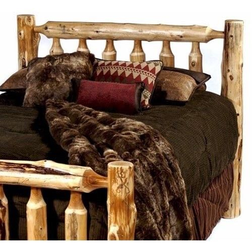 standard rustic cedar log headboard usa handcrafted