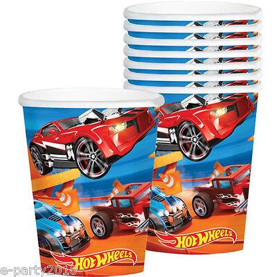 HOT WHEELS Wild Racer 9oz PAPER CUPS (8) ~ Birthday Party Supplies Beverage Blue ()
