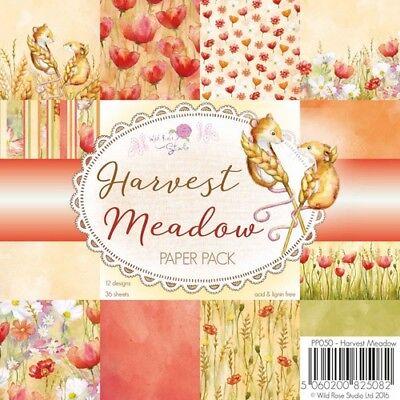 36 Scrapbooking Papier Wild rose Studio Paper Pad Herbstzeit Harvest Meadow