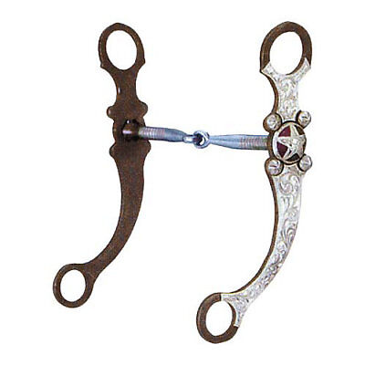 Silver Show Snaffle (Aime Imports AT Silver Texas Star Snaffle Long Shank Show Bit )