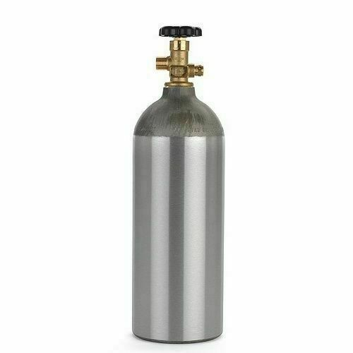 5lb CO2 Aluminum Tank for Draft Beer, Homebrew & Soda, Welding and Aquarium Use