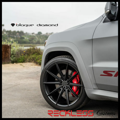 "Blaque Diamond 24"" Bd11 Concave Black Wheels Rims Fits Mercedes Benz S Class"