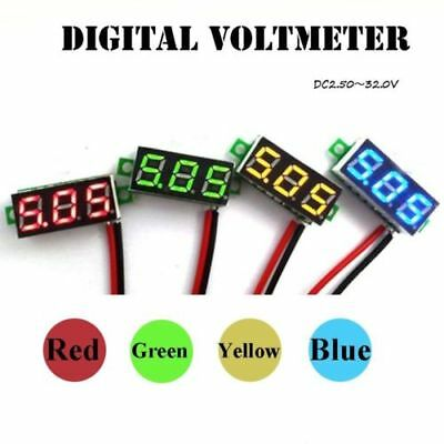 New Mini Dc 0-30v Voltmeter Led Panel 3-digital Display Voltage Meter 3 Wires