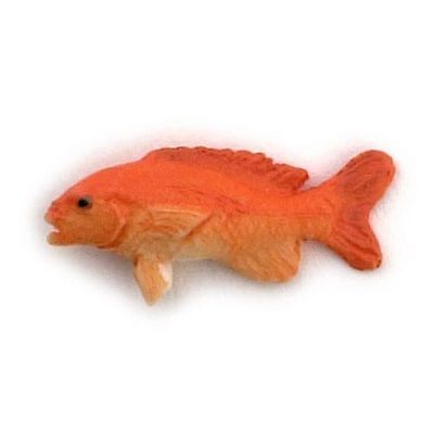 Dollhouse Miniature Red Snapper Fish for 1:12 Scale Doll House Miniatures Scene