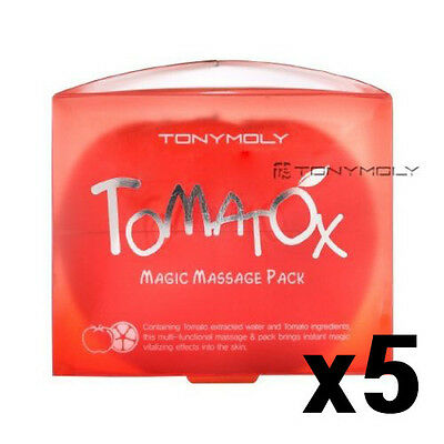 [TONYMOLY] Tomatox Magic Massage Pack 80g x5, Instant Whitening Brightening