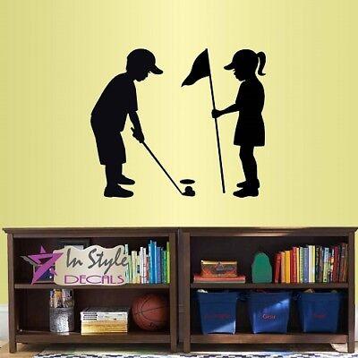 Vinyl Decal Little Boys Play Golf Sports Kids Room Nursery Decor Sticker 2312](Sports Nursery Decor)