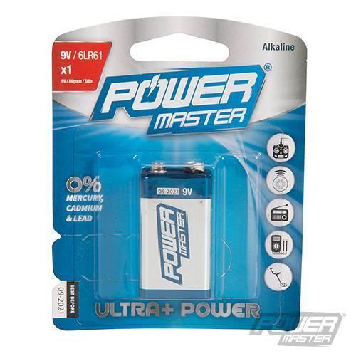 9v Alkaline Power Master Long Lasting Battery 9V PP3 6LR6