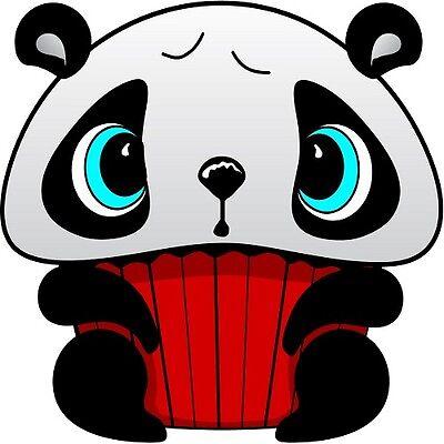 30 Custom Panda Cupcake Personalized Address Labels