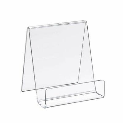 Small Clear Acrylic Countertop Easel Display Stand For 1 Book Dvd Video Game