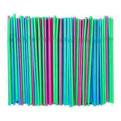 50-200 Stück Strohhalme Trinkhalme Straws grün fluoreszierend, leuchtend blau