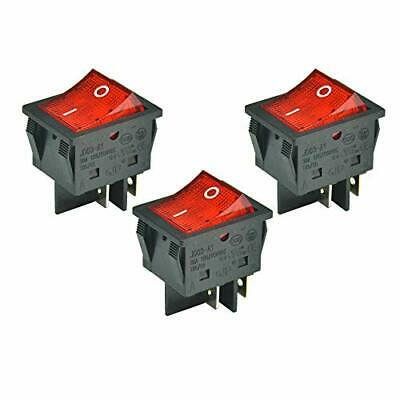 3pcs 30a 125250v Ac Dpst 4 Pins 2 Position Onoff Large Current Boat Rocker ...