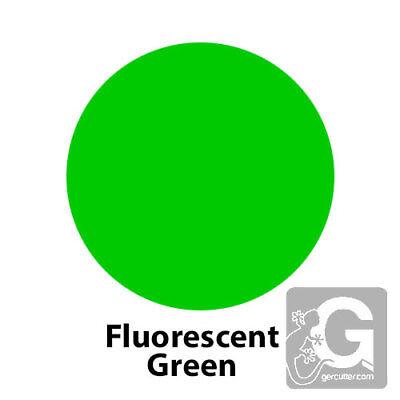 2 Feet 24x15 Siser Easyweed Fluorescent Heat Transfer Vinyl - Colorgreen