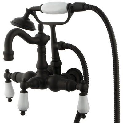 - Kingston Brass CC1011T5 Heritage Vintage 3-3/8-Inch Leg Tub Filler w/Hand Shower