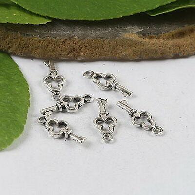 50pcs Tibetan Silver Spiral Charms Findings h0981