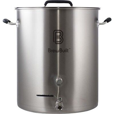 BrewBuilt­™ 10-50 Gallon Brewing Kettle - Free Shipping Stainless Steel Beer Pot ()