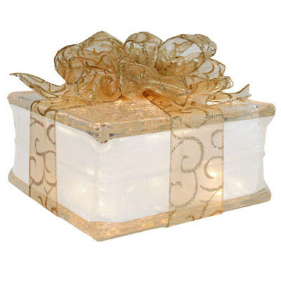 Holiday Decoration Lighted Glass Block with 4