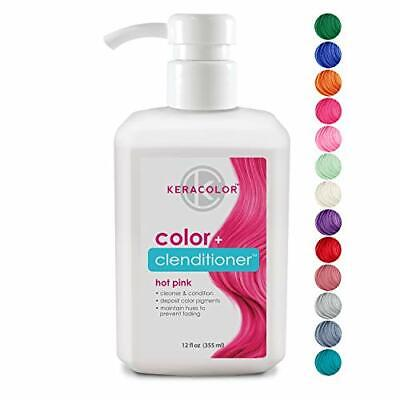 Color + Clenditioner Instantly Infuses Color into Hair 12oz Hot Pink